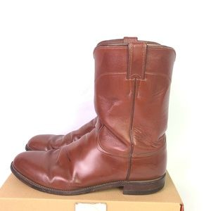 Justin Leather Boots Pre-Owned Distressed SZ 12 D
